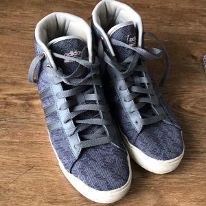 Adidas cloudfoam gray high tops